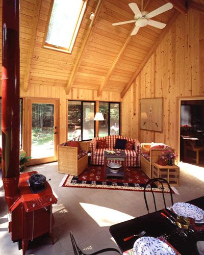 33 best images about sunroom on pinterest cedar homes for Log home sunrooms