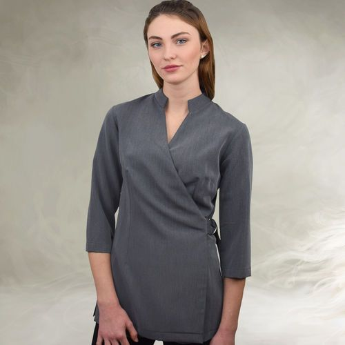 Beauty Kasack Mia grau Exklusive Berufsbekleidung für Spa Wellness und ...
