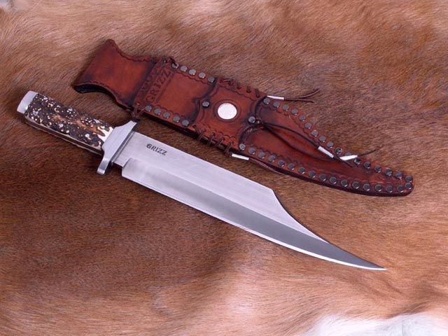 "custom knives | Custom Bowie knife. This huge knife has a 13"" blade, 2 1/2"" wide x 1/4 ..."