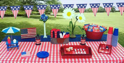 Decoration Usa Table