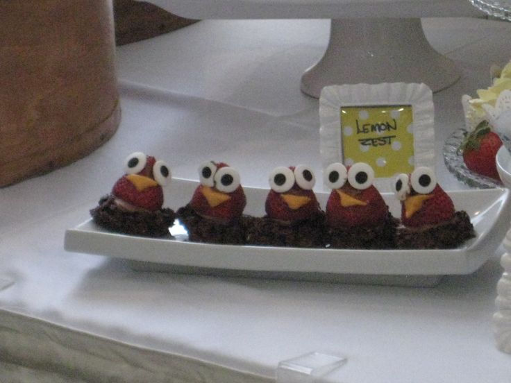 Strawberry Owls I saw on pintrest and I just put them on haystack cookies