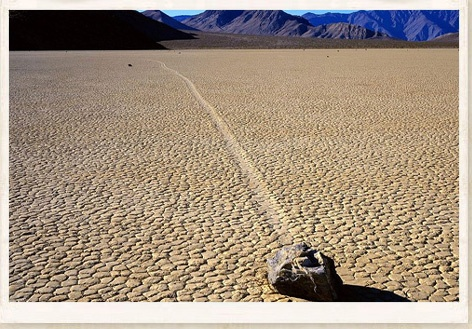 Located in one of the flattest places on the face of this planet are the strange and unexplained Sailing Stones of Racetrack Playa - Death Valley - California - USA.
