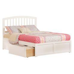 Atlantic Urban Lifestyle Richmond Bed with Storage - Finish: White, Size: Full