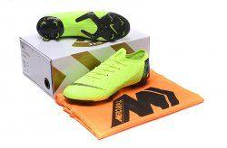 f64225f04d88 Advanced Nike Mercurial Superfly VI Flyknit 360 Elite FG Green Black Men s  Firm-Ground Soccer Shoes