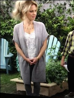 This is Candace Cameron Bure from Fuller House, The View, and Aurora Teagarden Mystery Movies.  I really like this outfit.  I tend to really like her style.