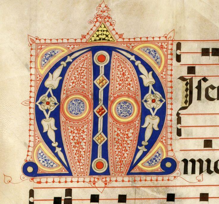 Iniziale M autore: Calligrafo fiorentino (bottega del Torelli?) tecnica: inchiostro e penna