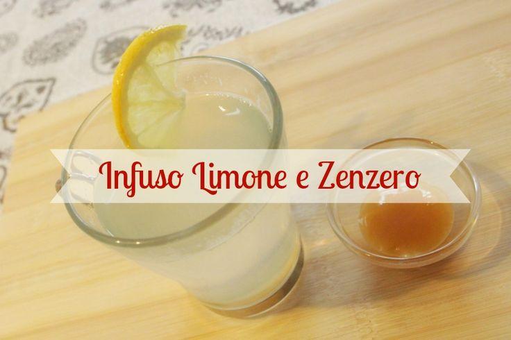 - Infuso contro il raffreddore: tisana di limone e zenzero ^-^ - Homemade lemon ginger tea!