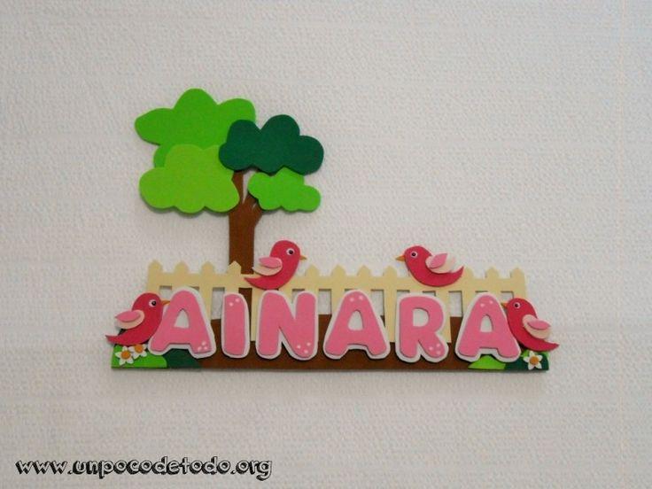 www.unpocodetodo.org - Cartel de pajaritos de Ainara - Carteles - Goma eva