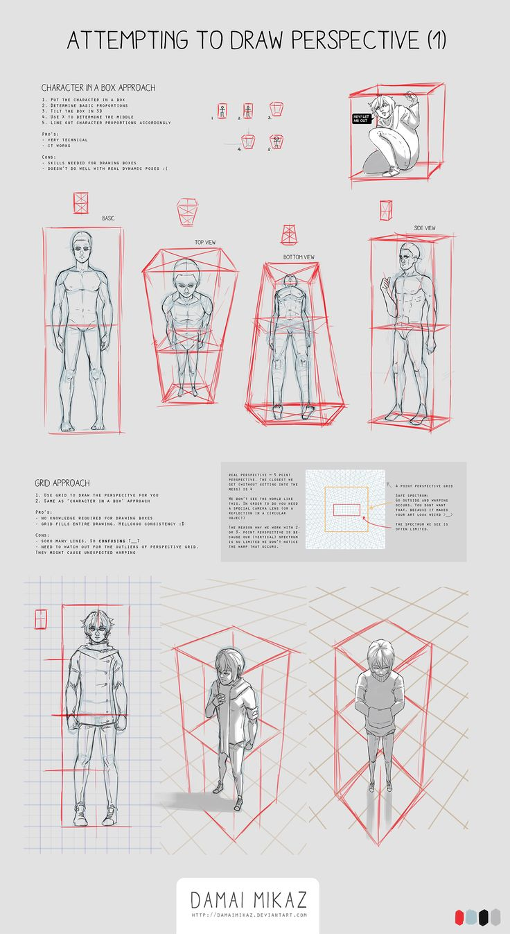 Sketchdump May 2016 [perspective 1] By Damaimikaz · How To Draw