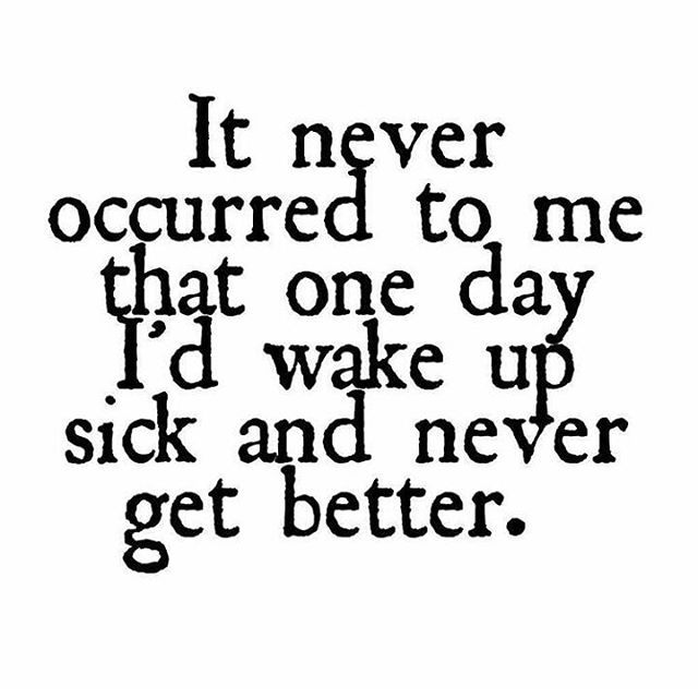 Never take your health for granted.