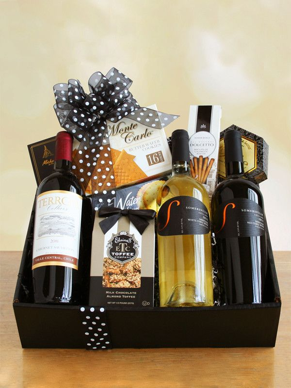 Black & White. They'll raise their glasses and raise a toast to you for sending the perfect gift. Two of our mouthwatering red wines and one white, paired with a smorgasbord of gourmet snacks make this gift a favorite among recipients. Get it here: https://www.wineshopathome.com/shop/products/gifts/black-white/?rep=rivkakaminetzky