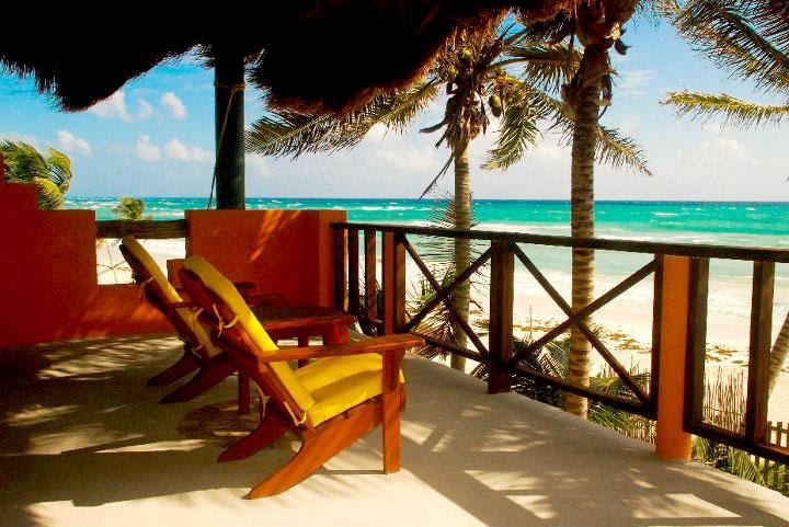 Hotel Nueva Vida de Ramiro, Tulum, Quintana Roo, México. Ecolodge Frente al mar, a 5 min de Tulum.