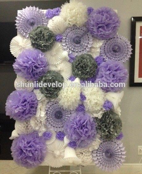bruiloft decoratie plafond papieren zakdoekje pinwheels-afbeelding-Event&…