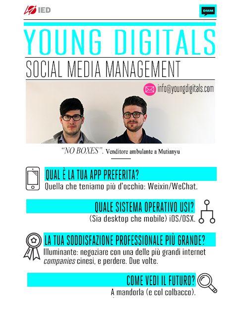 Giovani, digitali e aggiornatissimi: con Guido Ghedin e Marco Pezzano di Young Digitals, nostri #digitalcoach di Social Media Management, abbiamo viaggiato per il mondo, attraverso una visione chiara e completa del panorama internazionale dei social e motori di ricerca. Grazie per la vostra competenza e simpatia!