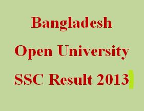 Bangladesh Open University SSC exam Result 2013 has been published. So check your result instantly here in all bd results. Congratulations!