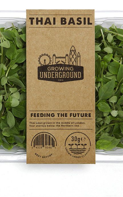 Fresh food to feed a city. Grown four storeys beneath London in disused railway tunnels.