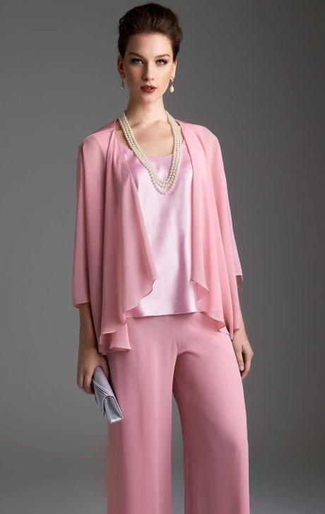 Pink pantsuit Landa Designs LE129 by Landa Designs Social Occasion