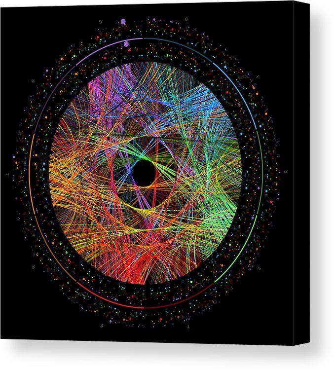 Pi Canvas Print featuring the digital art Pi Transition Paths by Martin Krzywinski