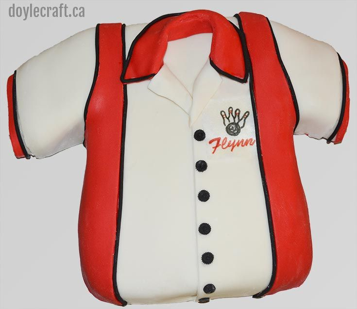 Bowling Shirt Cake by doylecraft.ca