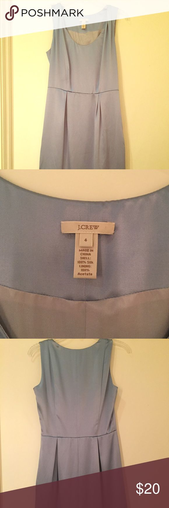 J Crew Bridesmaid dress in Periwinkle (size 4). Never worn J Crew dress that I bought on a whim. Great condition--100% silk lining.  Dry clean only. J. Crew Dresses Mini