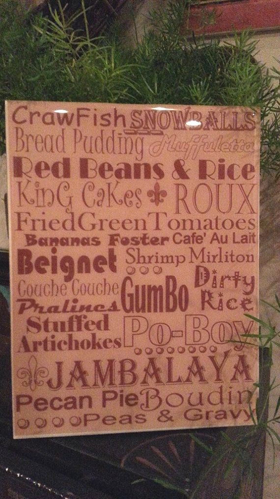 New Orleans Food Crawfish Cooking Subway Print Kitchen Decor Southern Food Gift Louisiana Cajun Home Decor Kitchen Decoration Decor