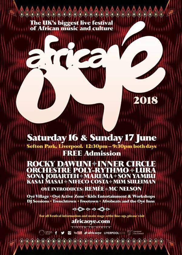 Rocky Dawuni Headlines Africa OYE' Festival on Saturday, June 16 in