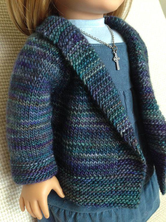 American Girl Doll Autumn Cardigan by AGdollknits on Etsy