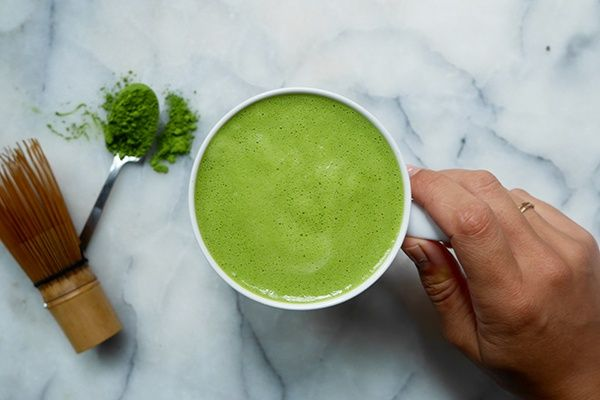 We love a warm, comforting mug in the morning, so we've created this immunity-boosting matcha latte to get you going without the negative side effects.