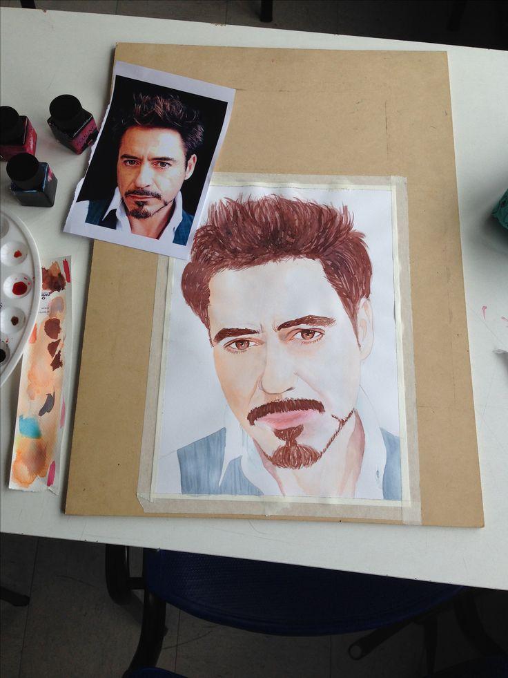 Robert Downey Jr. acuarelas