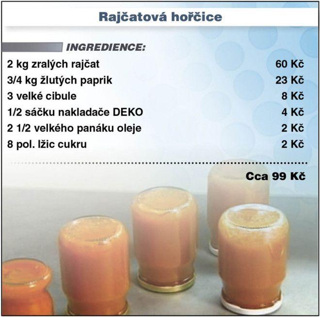 Levně a chutně - recept na Rajčatovou hořčici