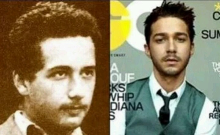 Shia Labouf looks like a young Albert Einstein. Huh O.o He could play his part well if they ever made that movie!
