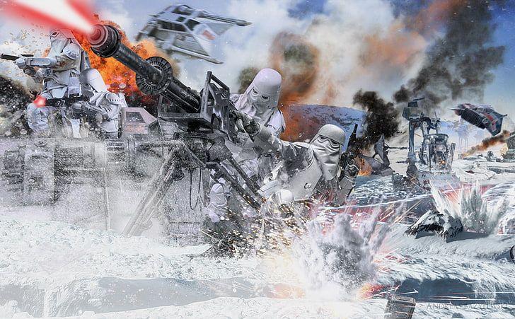 Star Wars Battle Of Hoth Star Wars Battlefront Digital Wallpaper Hd Wallpaper In 2020 Star Wars Background Star Wars Art Star Wars Artwork