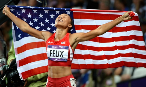 Allyson Felix wins gold, 200 meters