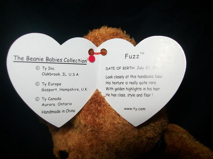 Ty Fuzz Beanie Baby with Tag Errors Rare NEW | Stuffies ...