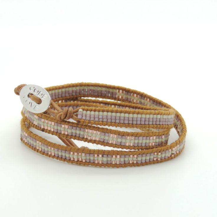 CODE LOVE 'SURVIVE' Morse Code Seed Wrap Bracelet - This bracelet has been hand crafted using the finest quality seed beads bound onto leather and finished with a signature Code Love button. www.codelove.com.au