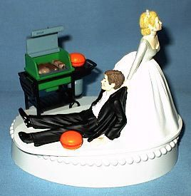 Wedding Cake Topper BBQ Grilling Chef Burger Grill Groom by WedSet, $59.99