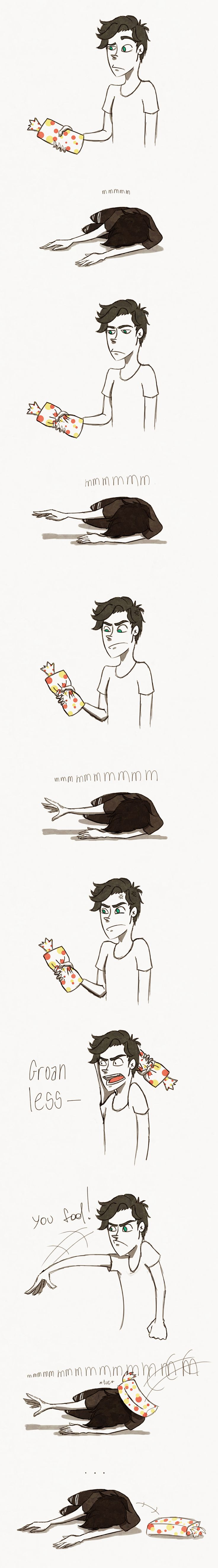 """The Wonder Bread by WanderingLola.deviantart.com on @DeviantArt   """"Nico started to crawl away, groaning. Percy wanted him to move faster and to groan less. He considered throwing his Wonder bread at him."""" -The Mark of Athena, page 513-514."""