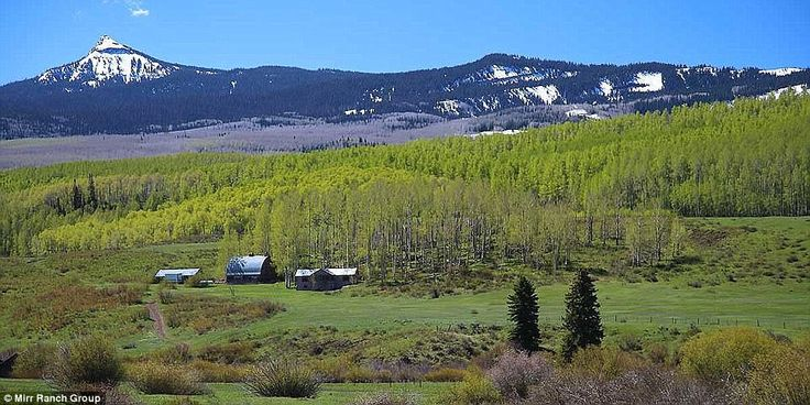 The Cross Mountain Ranch consists of 56,000 acres of land near Hayden, Colorado, plus stat...