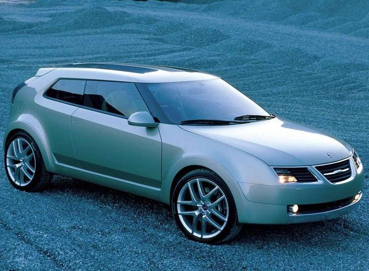 Saab 9-3X Concept  The Saab 9-3X Concept car was first shown in 2002 and was the first Crossover design shown by Saab, a mix of coupe, hatchback and 4×4, it was the first template set out for the possible design of a small car to compete against the likes of the VW Golf.