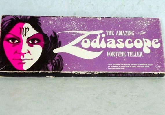 Rare Zodiascope Fortune Teller Game / 1960s by SwirlingOrange11