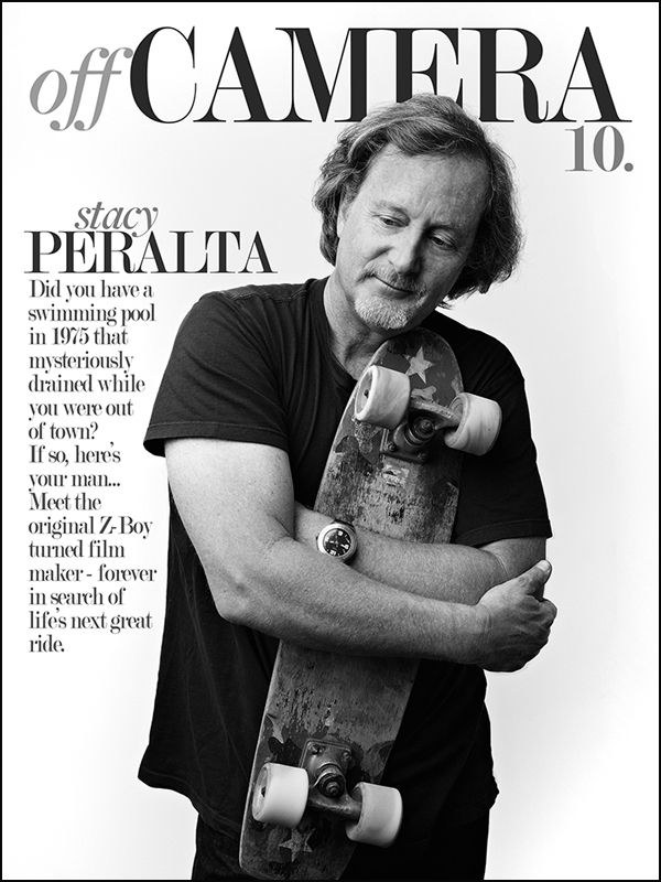 Stacy Peralta recalls his earliest and most visceral memories of skateboarding as the rumbling of the sidewalk coming up through his feet. Metaphorically, what he might have been feeling was the oncoming explosion of skateboarding, which would carry him to places he couldn't imagine as a grade...