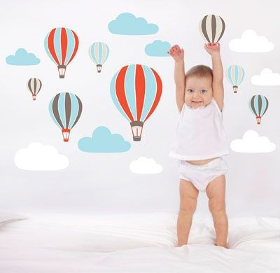 For Walls Hot Air Balloons Decal Price: Was $39.95 Now $ 26.95 Add a pop of colour to your babys room with these adorable hot air balloon removable wall stickers by For Walls! No mess, no fuss.. just peel and stick! These make a gorgeous baby gift or baby shower gift idea as well! https://www.littlebooteek.com.au/product/for-walls-hot-air-balloons-decal