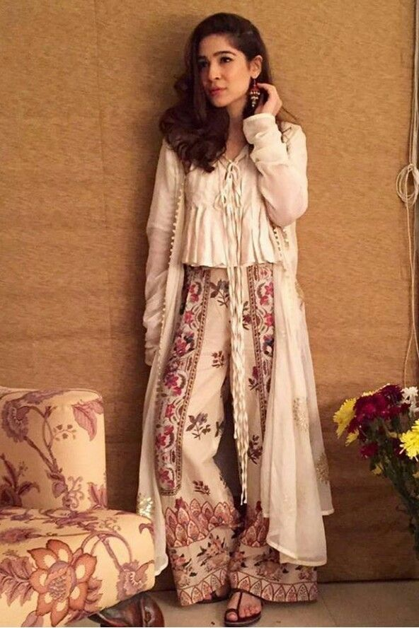 Pakistani Eid outfit by Generation. Seen her on actor Ayesha Omer.