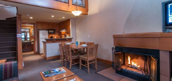 "Banff Two Bedroom Condo - at Hidden Ridge Resort. Condo has two bedrooms with queen beds, and a loft with two more queens. Full kitchen. In Banff proper. ""Hot pool"" and sauna. $630 per night."