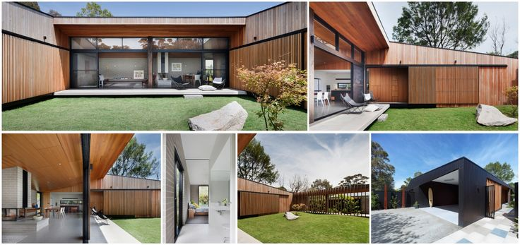 Hover House by Bower Architecture. 'Hover House is a replicable prototype for cost-effective,   high-amenity housing on a contained suburban site. It adds to the local lineage of compact   courtyard house models, enriching everyday life' - Jury Citation, 2014 Victorian Architecture   Awards. Photography: Shannon McGrath.