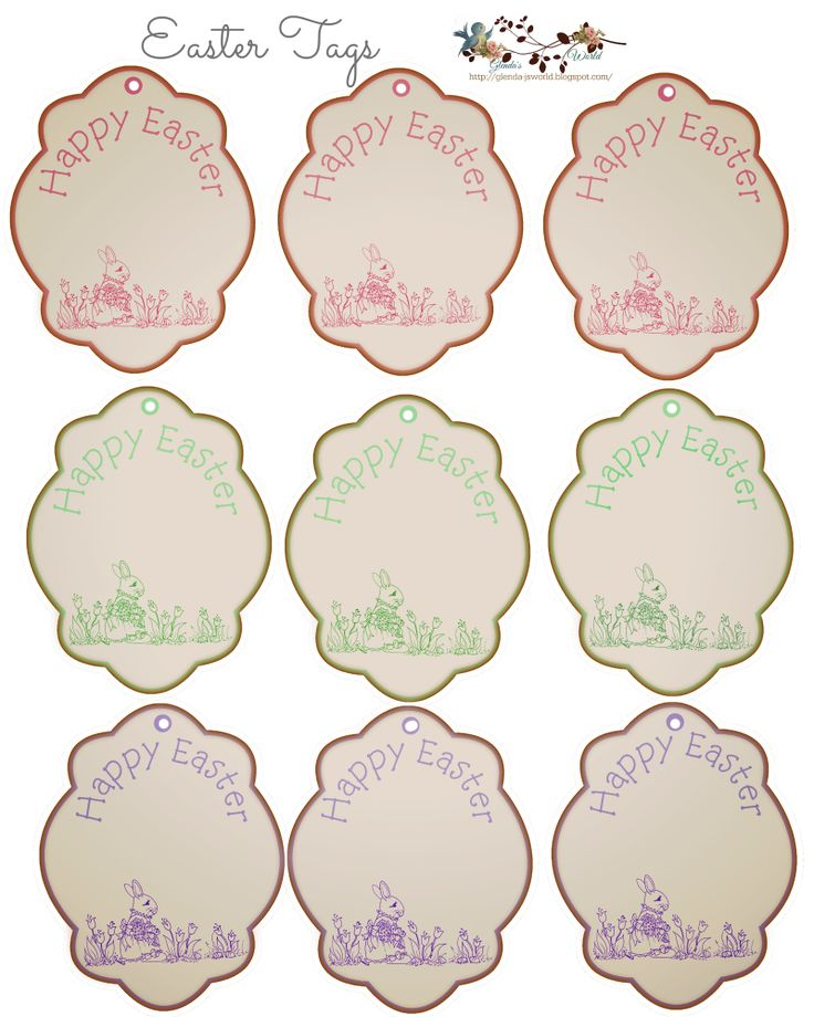 Best 11 printable tags ideas on pinterest easter ideas printable easter tags negle Images