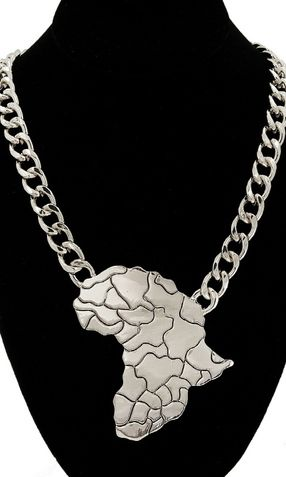 AFRICA MAP STATEMENT NECKLACE