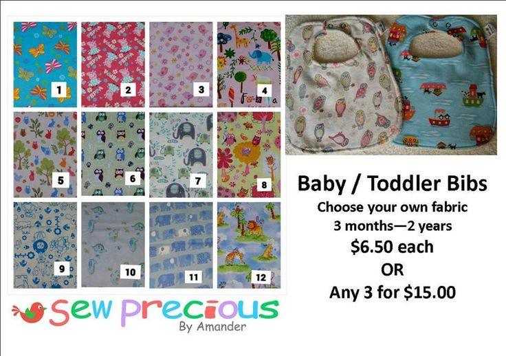 Handmade by Sew Precious By Amander Super Absorbent Bibs