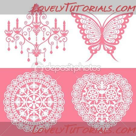 chocolate lace template - royal icing piping figures patterns royal icing ideas