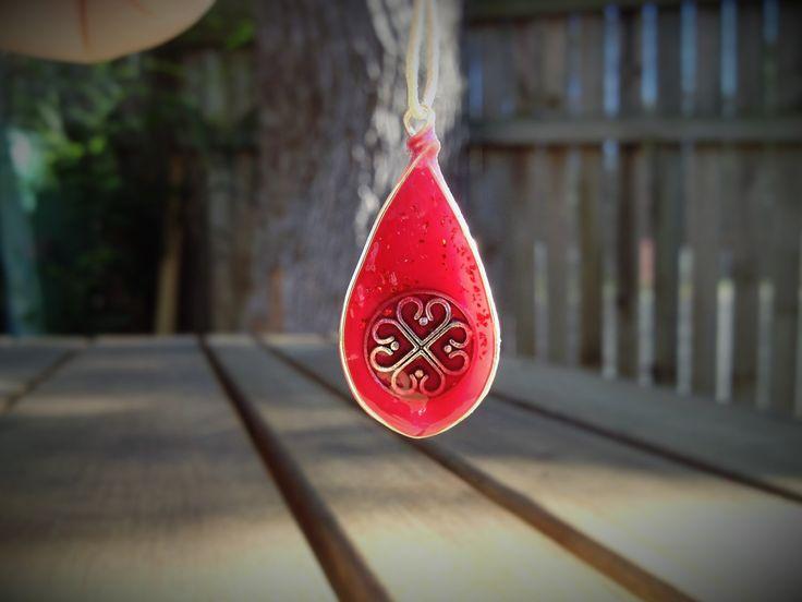 Four Hearts - teardrop by AshkaraDesign on Etsy